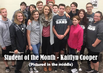 Student of the Month - Kaitlyn Cooper