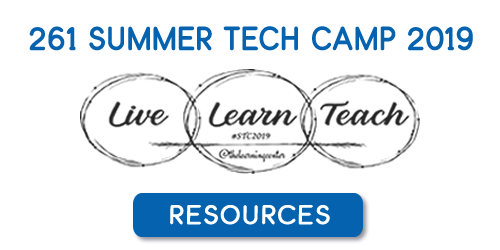 2019 Summer Tech Camp Resources